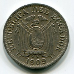 Pièce > 1centavo, 1909 - Équateur  - obverse