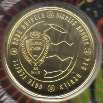 2½ Euro 2018 Red Devils Belgien Münzen Wert Ucoinnet
