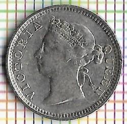 Moneda > 5cents, 1866-1901 - Hong Kong  - obverse