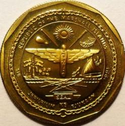 Moneta > 10dollari, 1991 - Marshall (Isole)  (Avro Lancaster) - obverse