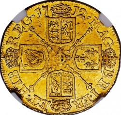 Кованица > 1guinea, 1710-1714 - Уједињено Краљевство  - reverse