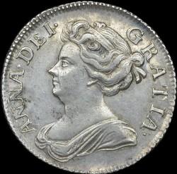 Кованица > 1шилинг, 1707-1710 - Уједињено Краљевство  - obverse