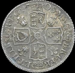 Кованица > 1шилинг, 1707-1710 - Уједињено Краљевство  - reverse