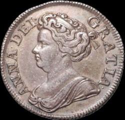 Кованица > 1шилинг, 1710-1714 - Уједињено Краљевство  - obverse