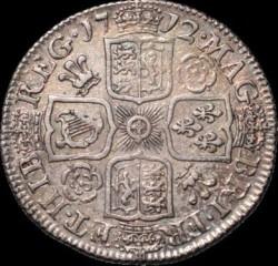 Кованица > 1шилинг, 1710-1714 - Уједињено Краљевство  - reverse