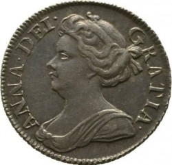 Кованица > 6пенија, 1707-1711 - Уједињено Краљевство  - obverse