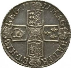 Кованица > 6пенија, 1707-1711 - Уједињено Краљевство  - reverse