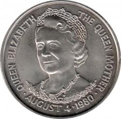 Moneta > 25pence, 1980 - Tristan da Cunha  (80° Anniversario - Nascita della Regina madre) - reverse