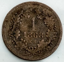 Monedă > 1сreițar, 1865-1871 - Bavaria  - obverse