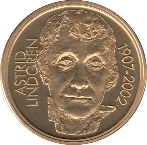 50 Couronnes 2002 Astrid Lindgren Suède Valeur Pièce Ucoinnet