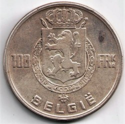 Munt > 100 francs, 1948-1951 - Belgie  (Legend in Dutch - 'BELGIE') - reverse