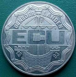 Moneta > 10ECUs, 1993 - Paesi Bassi  (Maastricht Treaty) - obverse