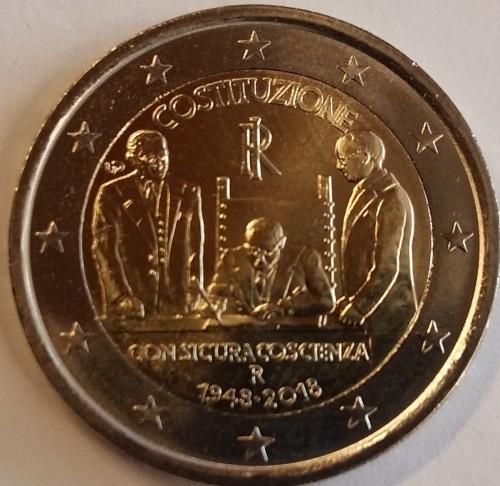 2 Euro 2018 Constitution Of The Italian Republic Italien Münzen