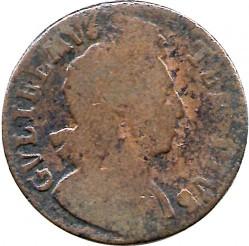 Монета > ½пенні, 1699-1701 - Англія  - obverse