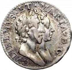 錢幣 > 3便士, 1689-1694 - 英格蘭  - obverse