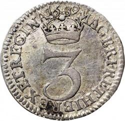 錢幣 > 3便士, 1689-1694 - 英格蘭  - reverse