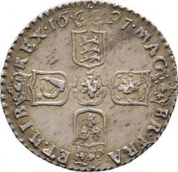錢幣 > 6便士, 1697-1701 - 英格蘭  - reverse
