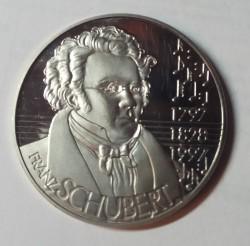 Moeda > 5ECUs, 1997 - Áustria  (200th Anniversary - Franz Schubert) - obverse