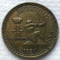 Minca > 2francs, 1926 - Monako  - obverse