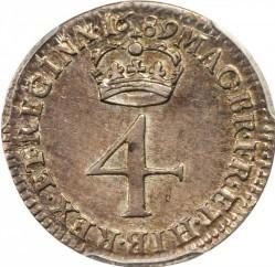 錢幣 > 4便士, 1689-1694 - 英格蘭  - reverse