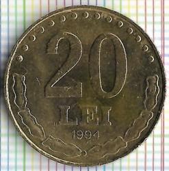 Moneda > 20lei, 1994 - Romania  - reverse