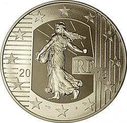 Монета > 10євро, 2013 - Франція  (40-а річниця - Монетний двір Пессак) - obverse