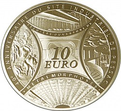 Монета > 10євро, 2013 - Франція  (40-а річниця - Монетний двір Пессак) - reverse