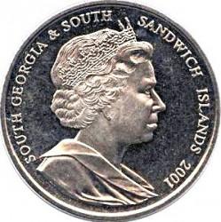 Монета > 2паунда, 2001 - Южна Джорджия  (Sir Ernest Henry Shackleton) - obverse