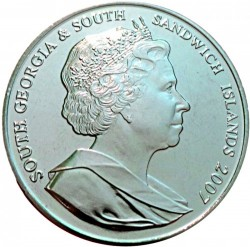 Moneta > 2 svarai, 2007 - Pietų Džordžija  (International Polar Year) - obverse