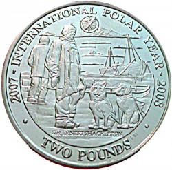 Moneta > 2 svarai, 2007 - Pietų Džordžija  (International Polar Year) - reverse