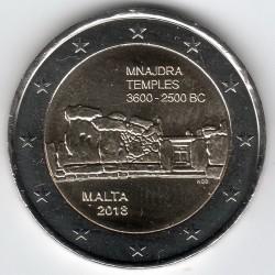 Moneta > 2euro, 2018 - Malta  (Prehistoria Malty - Świątynie Mnajdra ) - obverse