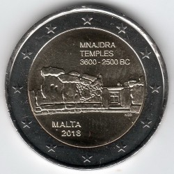 Moneta > 2euro, 2018 - Malta  (Prehistoria Malty - Świątynie Mnajdra ) - reverse