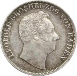 Münze > 1Gulden, 1852 - Baden  (Griffin with shield on reverse) - obverse