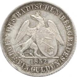 Münze > 1Gulden, 1852 - Baden  (Griffin with shield on reverse) - reverse