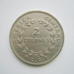 Coin > 2colones, 1968 - Costa Rica  - reverse
