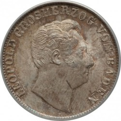 Moneda > ½florines, 1845-1852 - Baden  - obverse