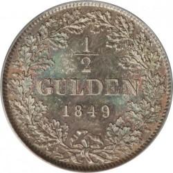 Moneda > ½florines, 1845-1852 - Baden  - reverse