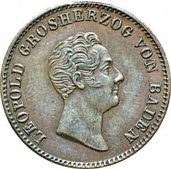 Moneta > 1kreuzer, 1836-1845 - Baden  - obverse