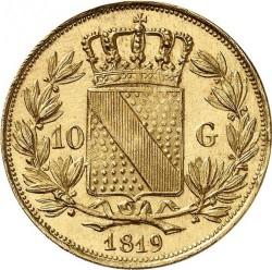 Монета > 10гульденов, 1819-1825 - Баден  - reverse