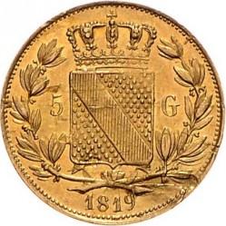 Moneta > 5guldenów, 1819-1826 - Badenia  - reverse