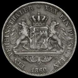 Кованица > 1вереиншталер, 1857-1864 - Bavaria  - reverse