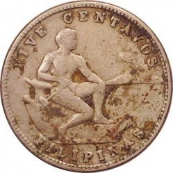 Moneda > 5centavos, 1930-1935 - Filipines  - reverse