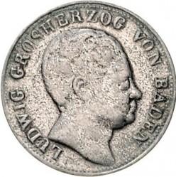 Moneta > 6kreuzer, 1820 - Badenia  (Bez wieńca wokół herbu) - obverse