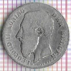 Minca > 50centimes, 1886-1899 - Belgicko  (Legend in Dutch - 'DER BELGEN') - obverse
