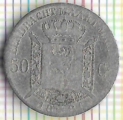 Minca > 50centimes, 1886-1899 - Belgicko  (Legend in Dutch - 'DER BELGEN') - reverse