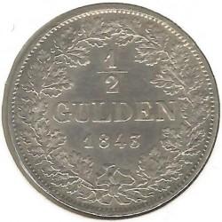 Moneta > ½guldena, 1838-1846 - Badenia  - reverse