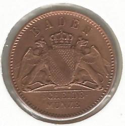 Moneda > ½kreuzer, 1859-1871 - Baden  - obverse