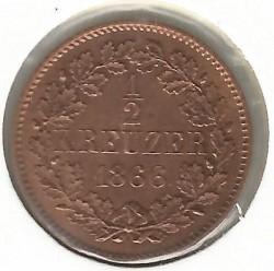 Moneda > ½kreuzer, 1859-1871 - Baden  - reverse