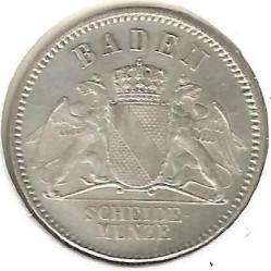 Moneda > 3kreuzer, 1866-1871 - Baden  - obverse