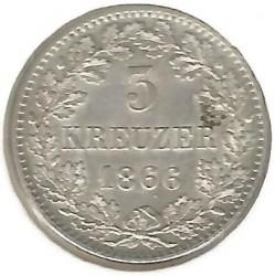 Moneda > 3kreuzer, 1866-1871 - Baden  - reverse